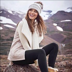 Athleta Apres Anything Sherpa Vest Oatmeal